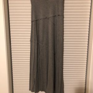 NWT. Relativity 2X Heather Gray Maxi Skirt